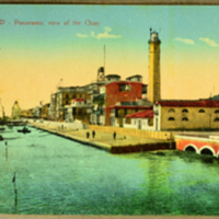 Port - Said, Panoramic view of The Quay