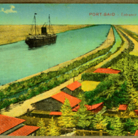 Port - Said, Entrance of the Canal
